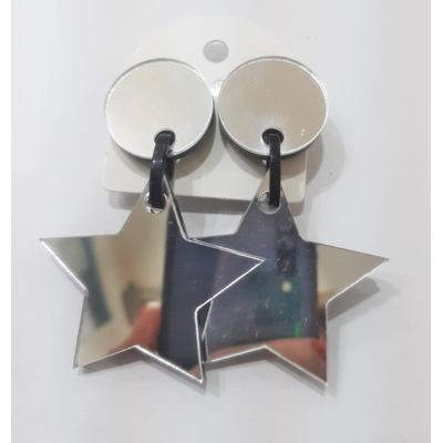 Boucles d'oreilles clips étoile miroir ajouré Marion Godart