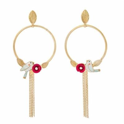 Boucles d'oreilles puces anneau Sur la bouche - Taratata