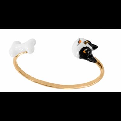 Bracelet Face to Face chien et os - Nach