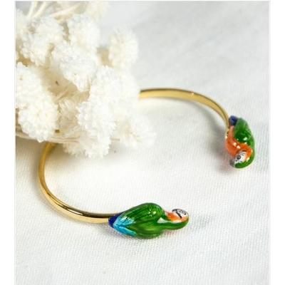Bracelet Face To Face Perroquet Vert NACH
