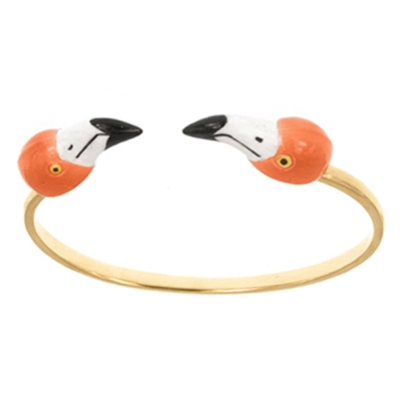 Bracelet Face to Face Flamant rose - Nach