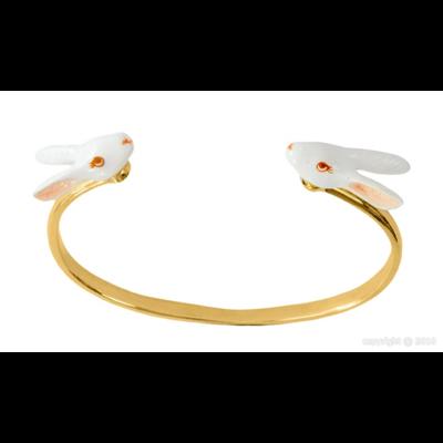 Bracelet Face to Face lapin blanc - Nach