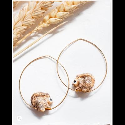 Boucles d'oreilles créoles Écureuil - RÊVERIE NACH