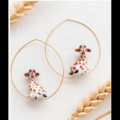 Boucles d'oreilles créoles Girafe - ÉPICÉE NACH