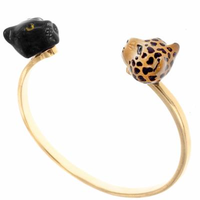 Bracelet Face to Face Panthère noire & Léopard D118 - Nach