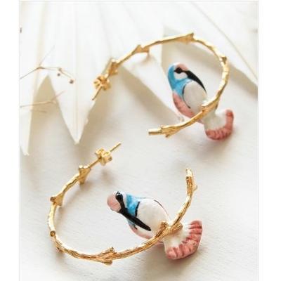 Boucles d'oreilles branches Colibri - RÊVERIE NACH