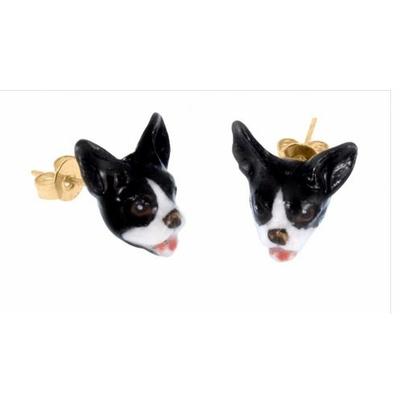 Boucles d'oreilles mini Bouledogue NACH