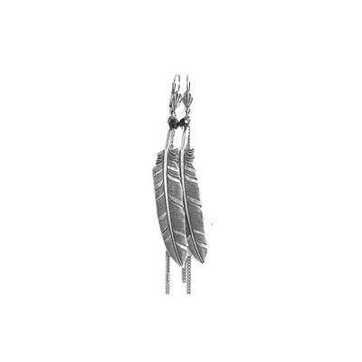 boucles d'oreilles plume 2 Lotta Djossou