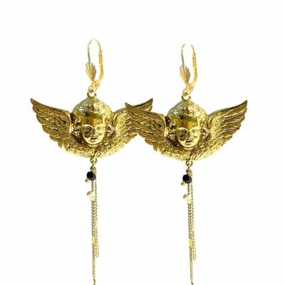 boucles d'oreilles ange dorée Lotta Djossou