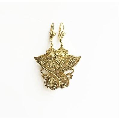 boucles d'oreilles antique dorée Lotta Djossou