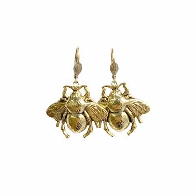 boucles d'oreilles bee dorée Lotta Djossou