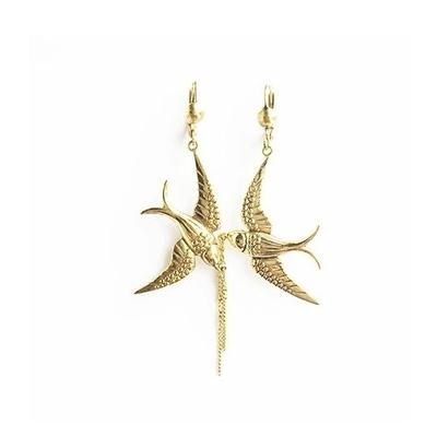 boucles d'oreilles bird dorée Lotta Djossou