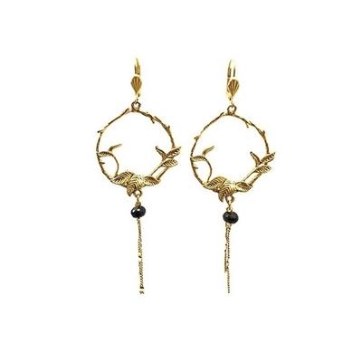 boucles d'oreilles creole en fleur dorée Lotta Djossou