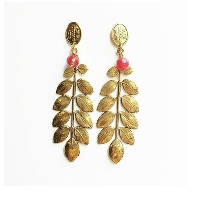 boucles d'oreilles feuille dorée 3 Lotta Djossou