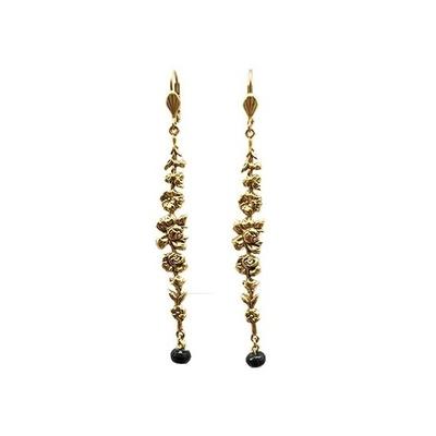 boucles d'oreilles fleur dorée Lotta Djossou