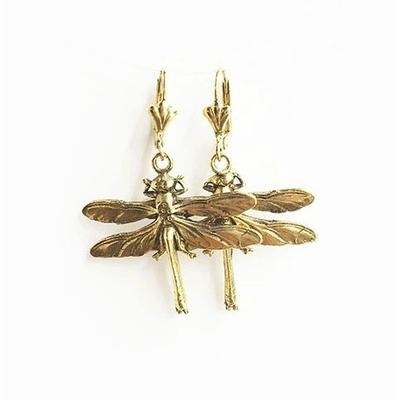 boucles d'oreilles libellule dorée Lotta Djossou