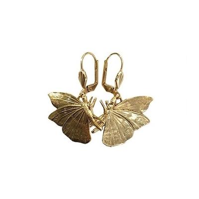 boucles d'oreilles papillon dorée  Lotta Djossou