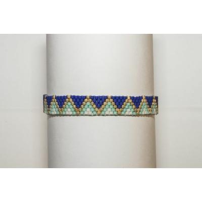 Bracelet  Perles de verre japonaises tissage manuel LA BELLE SIMONE