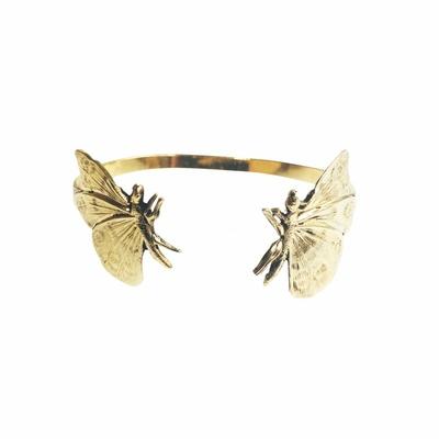 bracelet double papillon doré Lotta Djossou
