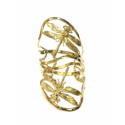 bracelet manchette double libellule dorée Lotta Djossou