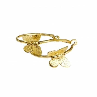 boucles d'oreilles creoles papillon dorée Lotta Djossou