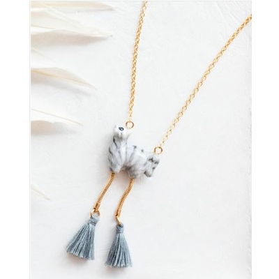 Collier Chat Gris Tabby avec pompons RÊVERIE - NACH