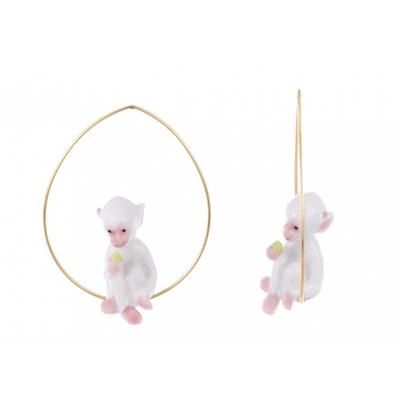 BO Créoles mini singe blanc - Nach