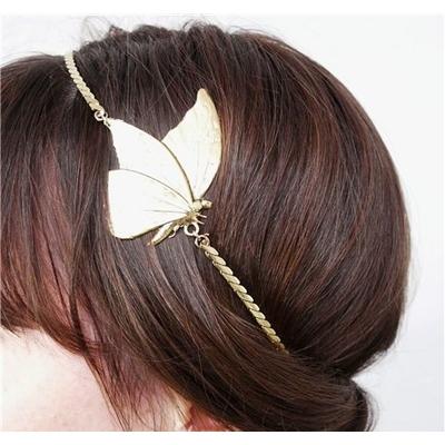 Bijou de tête headband papillon dore Lotta Djossou