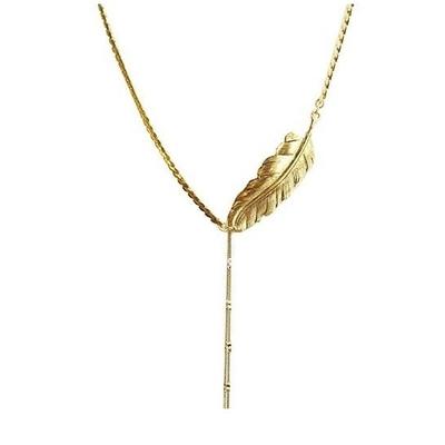 collier plume doré Lotta Djossou