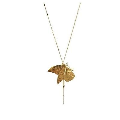 collier sautoir papillon doré  Lotta Djossou
