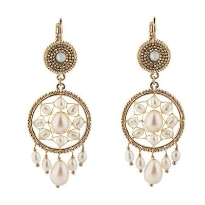 Boucles d'oreilles dormeuses bohèmes-chics perles I perle Collection Colorado -  Satellite Paris