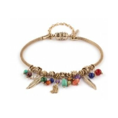 Bracelet ethnique small turquoise cornaline et grenat I multicolore Collection Colorado - Satellite Paris
