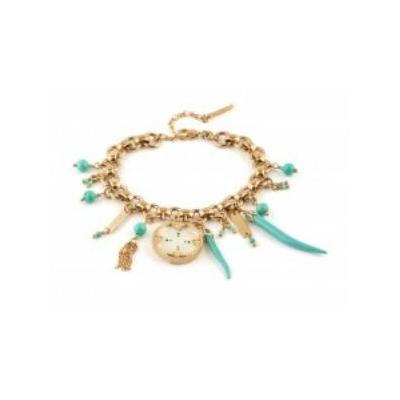 Bracelet bohème nacre blanche et perles du Japon I turquoise Collection Timor - Satellite Paris