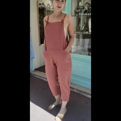 Salopette lin brique - La belle Simone Bijoux