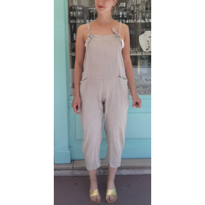 Salopette lin coloris lin - La belle Simone Bijoux