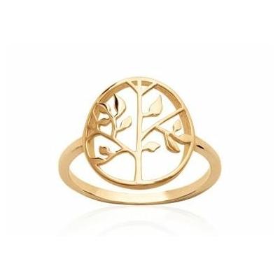 Bague arbre de vie plaqué or 750 3 microns - La Belle Simone Bijoux