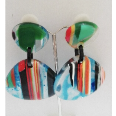 Boucles d'oreilles rayures modèle 1 - Marion Godart