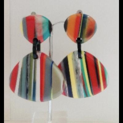 Boucles d'oreilles rayures modèle 2 - Marion Godart