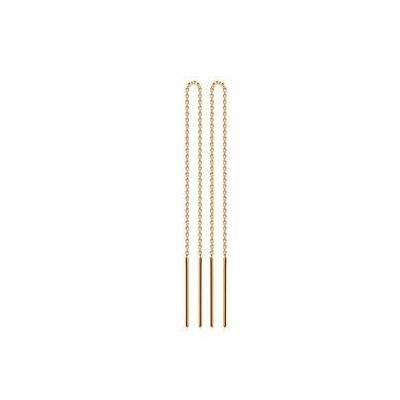 Boucles d'oreilles chaine pendante plaqué or 750 3 microns - La Belle Simone Bijoux
