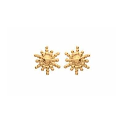 Boucles d'oreilles soleil plaqué or 750 3 microns clous - La Belle Simone Bijoux