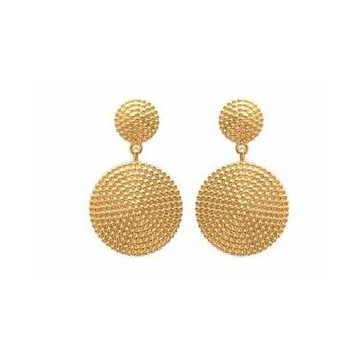 Boucles d'oreilles petits points plaqué or 750 3 microns clous - La Belle Simone Bijoux