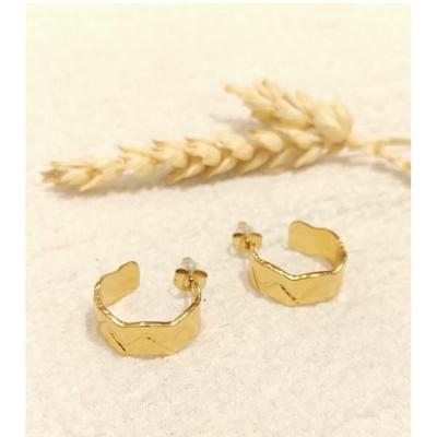 Boucles d'oreilles mini créole doré - Mile Mila