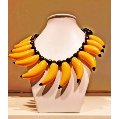 Collier bananes 54 cm Résine