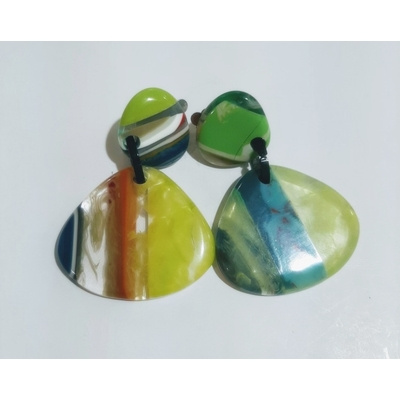 Boucles d'oreilles clips rayures modèle 3 - Marion Godart