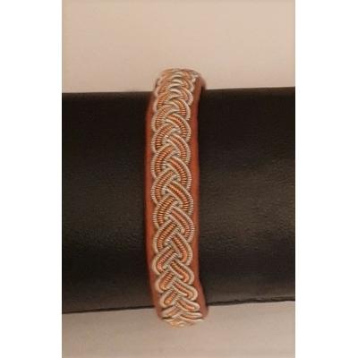 Bracelet FUNKY collection black - cuir naturel de renne et fils d'argent - Hanna Wallmark