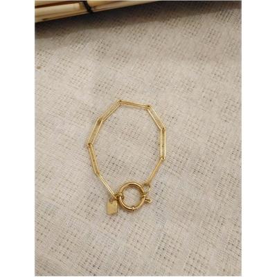 Bracelet maille trombone doré acier inoxydable - Mile Mila