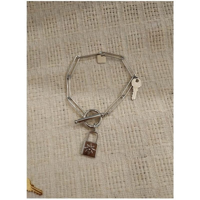 Bracelet PADLOCK argenté acier inoxydable - Mile Mila