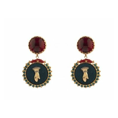 Boucles d'oreilles clips baroques main strassée I multicolore collaction Taormina - Satellite