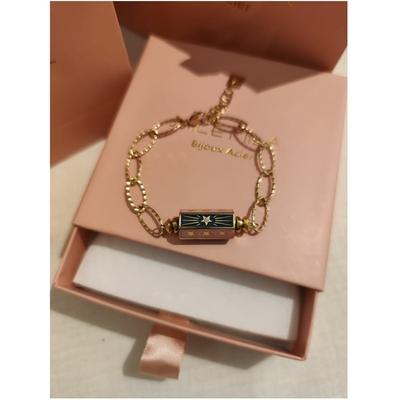 Bracelet cylindre étoile multi rose vert-doré acier inoxydable - Mile Mila