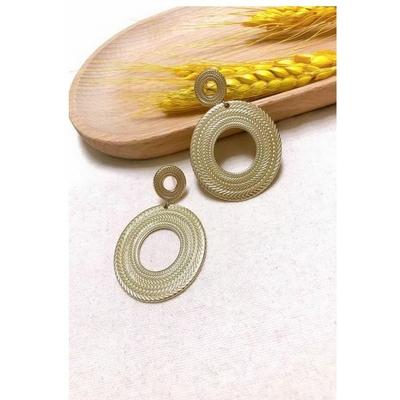 Boucles d'oreilles cercle doré acier inoxydable - Mile Mila
